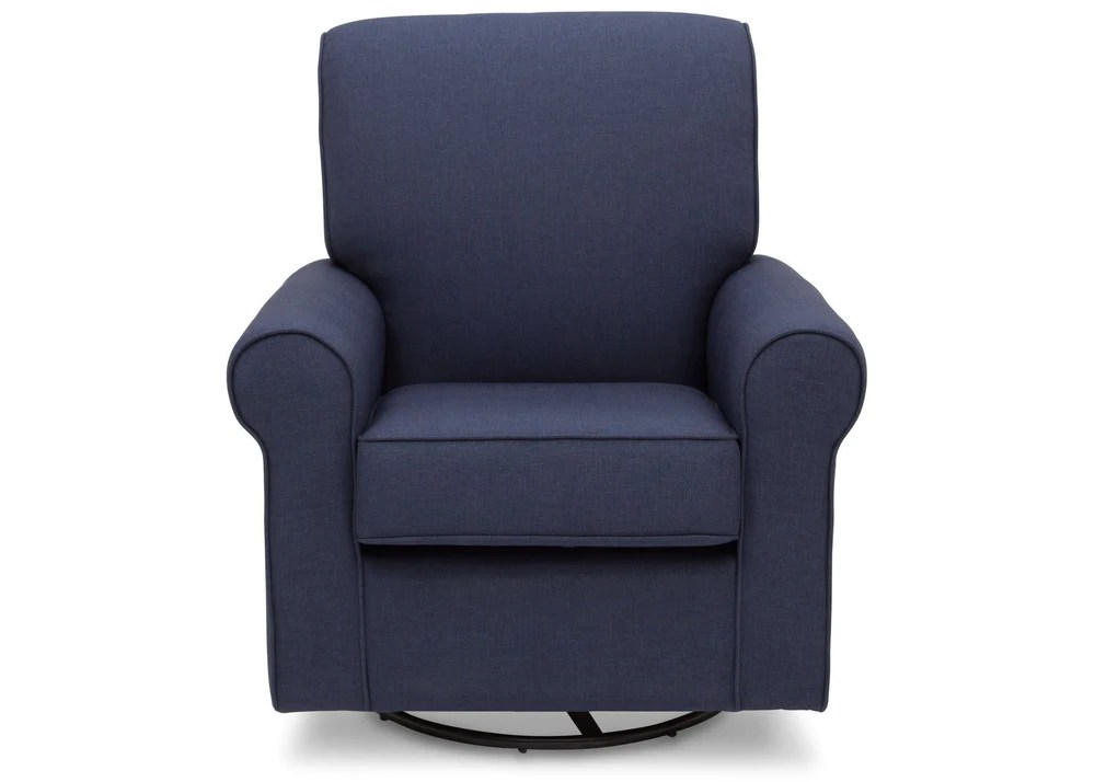 delta avery nursery glider chair grey wheel prices upholstered children simmons kids sailor blue 424 front view c1c