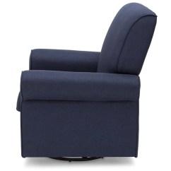 Delta Avery Nursery Glider Chair Grey Ikea Cuddle Upholstered Children Simmons Kids Sailor Blue 424 Full Left Side View C4c