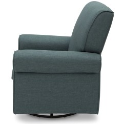 Delta Avery Nursery Glider Chair Grey Gray And Yellow Accent Upholstered Children