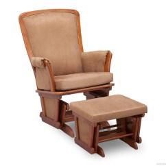 Childcare Glider Rocking Chair Ottoman Walnut Folding Ikea Bentley Eclipse With Delta Children