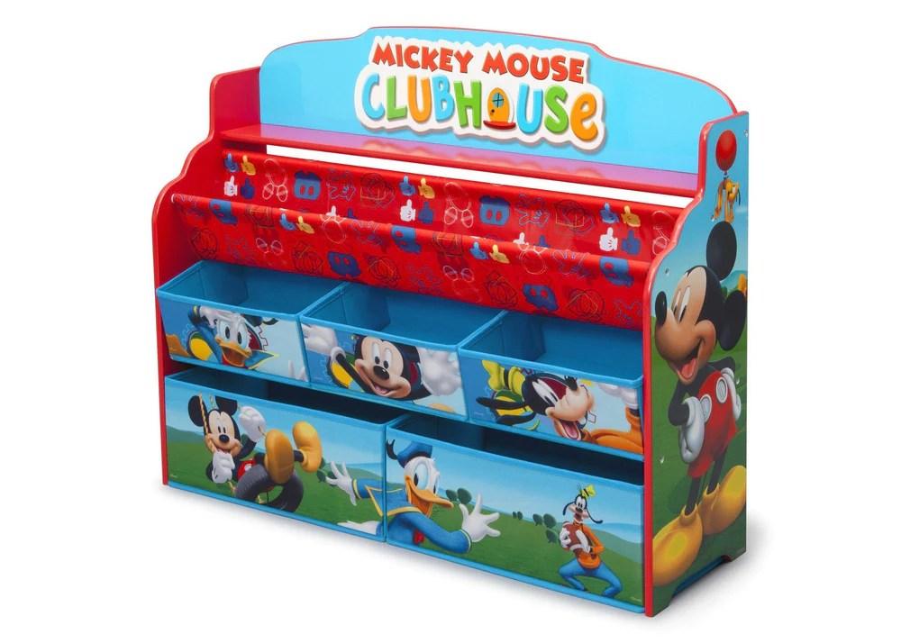 Mickey Mouse Deluxe Book Toy Organizer Delta Children