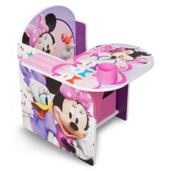 Minnie Mouse Chairs For Kids Esp Fishing Chair Desk With Storage Bin Delta Children