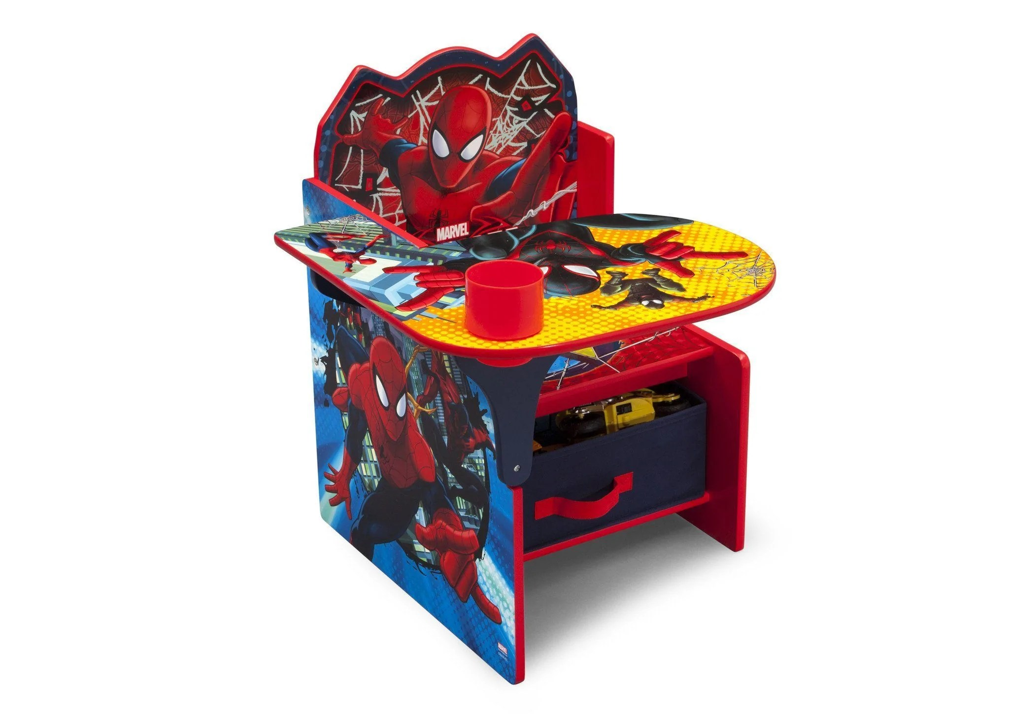 spiderman table and chairs bedroom chair design ideas image desk with storage bin delta children