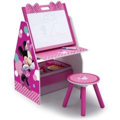 Minnie Mouse Upholstered Chair Canada Design Restaurant Furniture Collection Delta Children Activity Center Easel Desk With Stool Toy Organizer