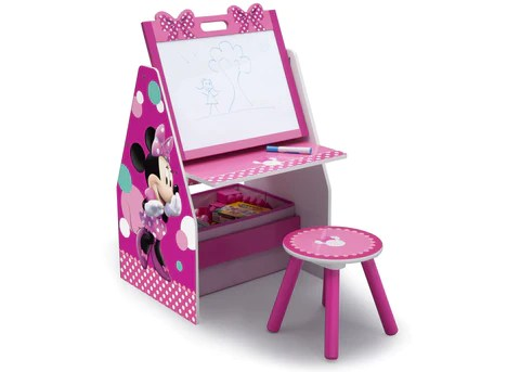 minnie mouse upholstered chair portable stadium chairs furniture collection | delta children