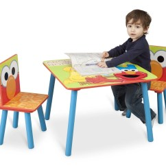 Sesame Street Table And Chairs Jazzy Power Chair Manual Set Delta Children