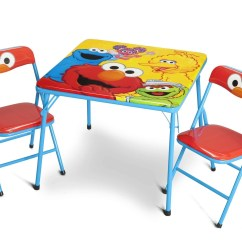 Elmo Table And Chairs Box Style Chair Cushions Sesame Street Metal Folding Set Delta Children