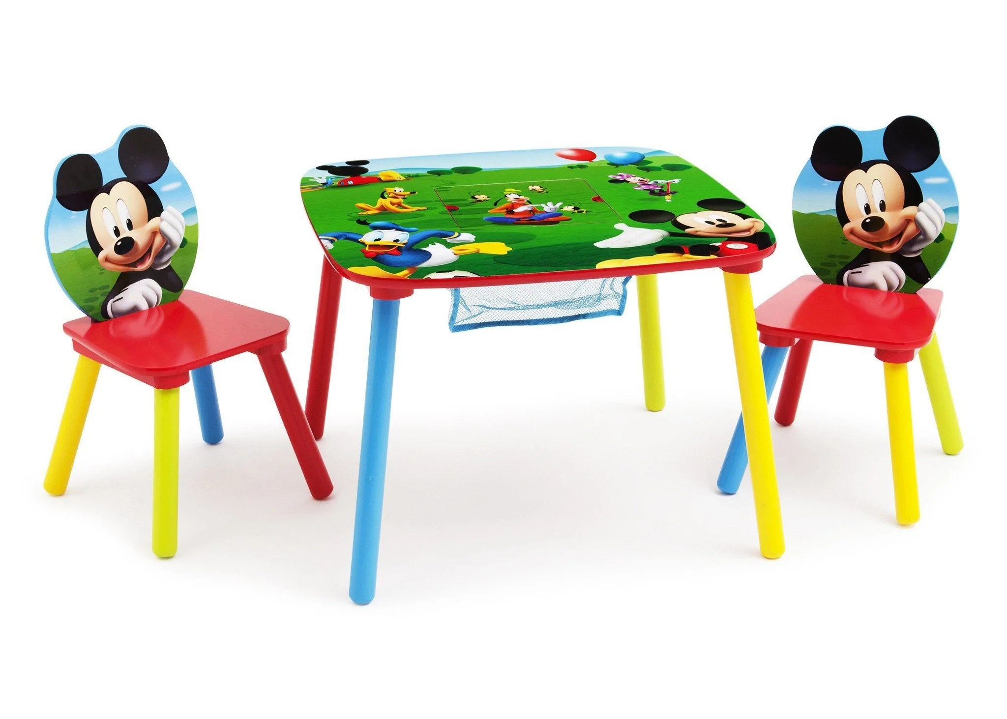 mickey mouse chairs and table chair design top view set with storage delta children