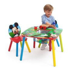 Mickey Mouse Chairs And Table Teak Outdoor Rocking Chair Uk Set With Storage Delta Children