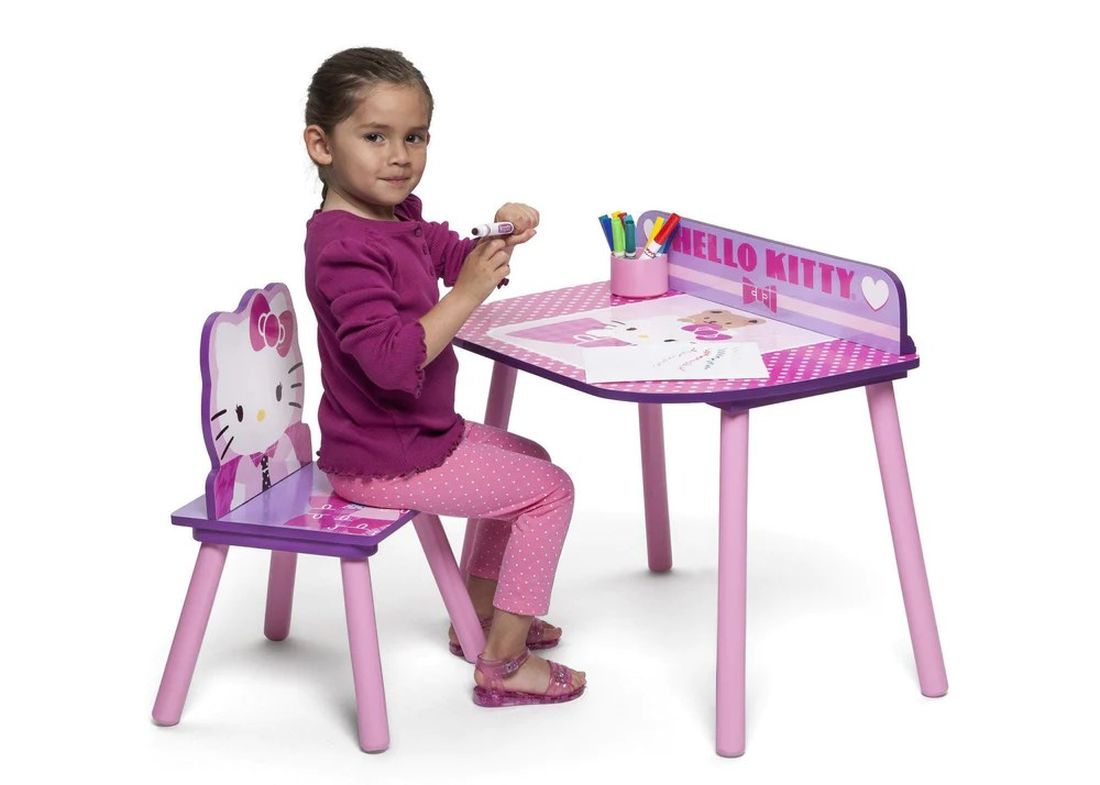 hello kitty desk chair racing seat office set delta children on left with props a3a