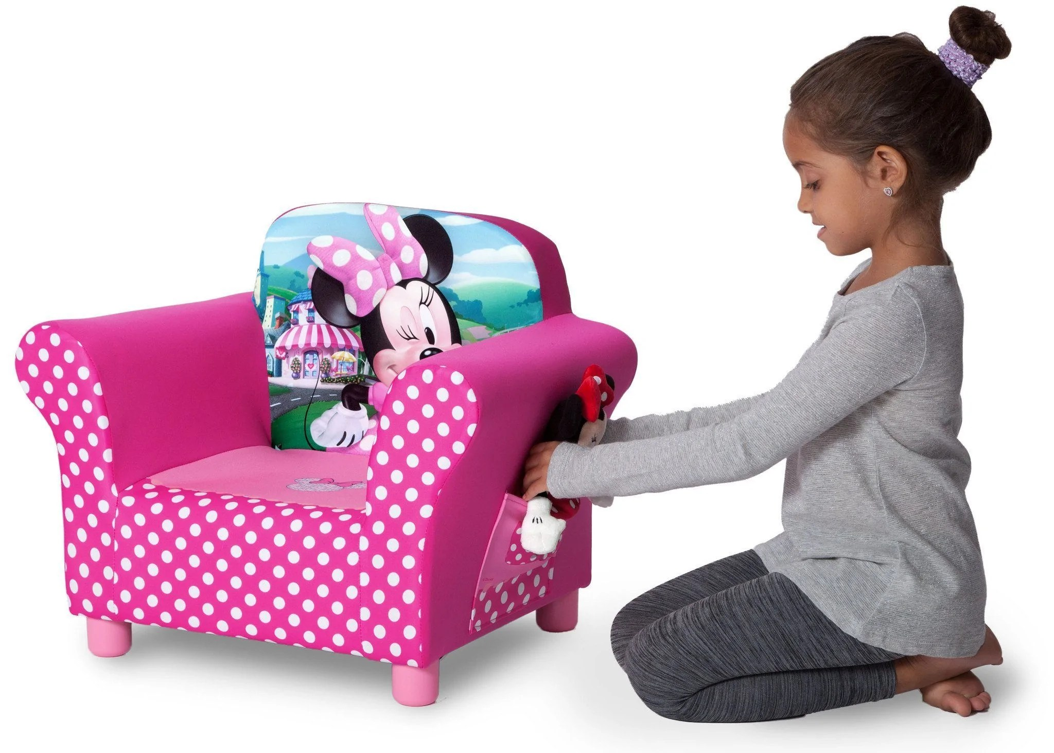 minnie mouse upholstered chair unfinished wooden chairs delta children