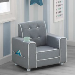 Childrens Upholstered Chairs Cheap Pod Chair Chelsea Kids With Cup Holder Delta Children