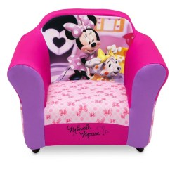 Minnie Mouse Upholstered Chair Race Car Seat Gaming Disney With Sculpted