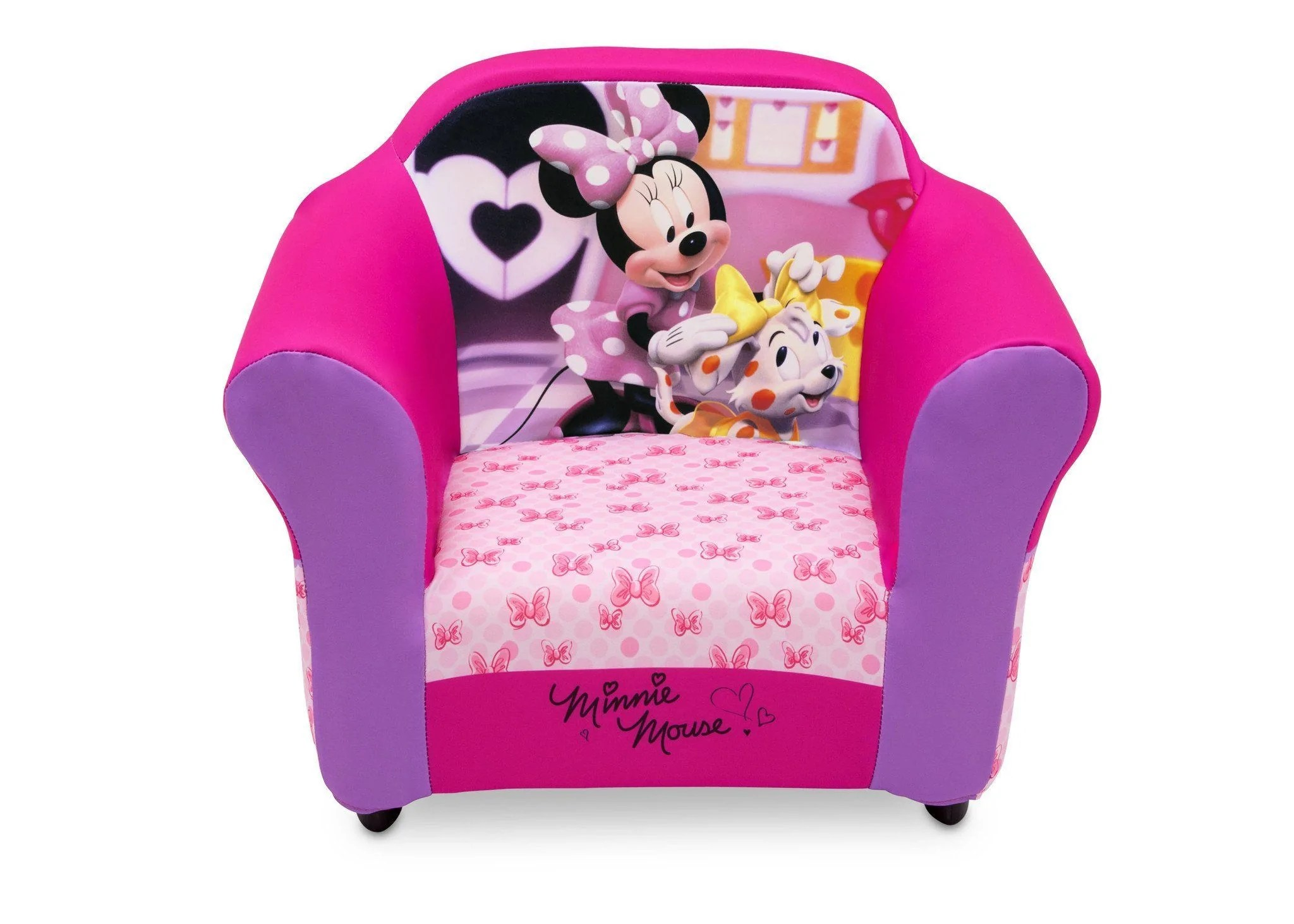 minnie mouse upholstered chair caravan zero gravity lounge disney with sculpted