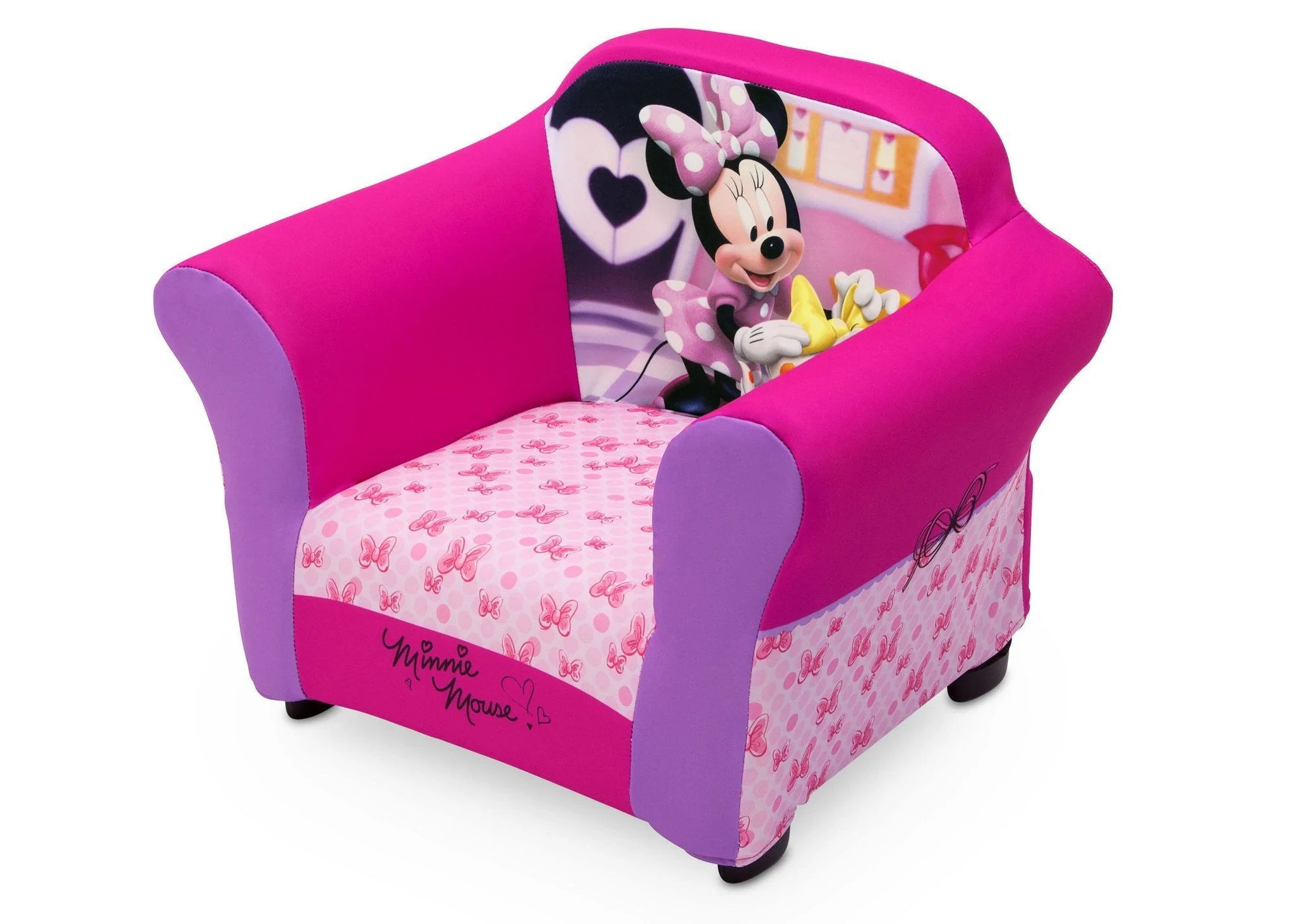 minnie mouse upholstered chair gavelston side end table disney with sculpted