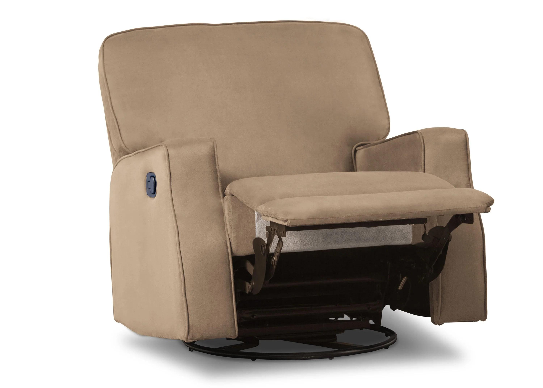 swivel chair child vintage leather club caleb nursery recliner glider delta children