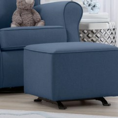 Blue Nursery Chair Outside Tables And Chairs Tesco Baby Gliders Rocking Delta Children Reston Gliding Ottoman