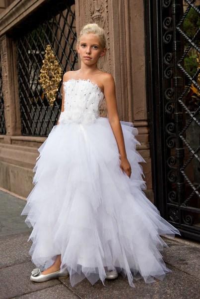 The Swan Princess  Feather Flower Girls Dress  Love Baby J