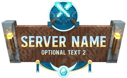 minecraft server glory war maker logos template