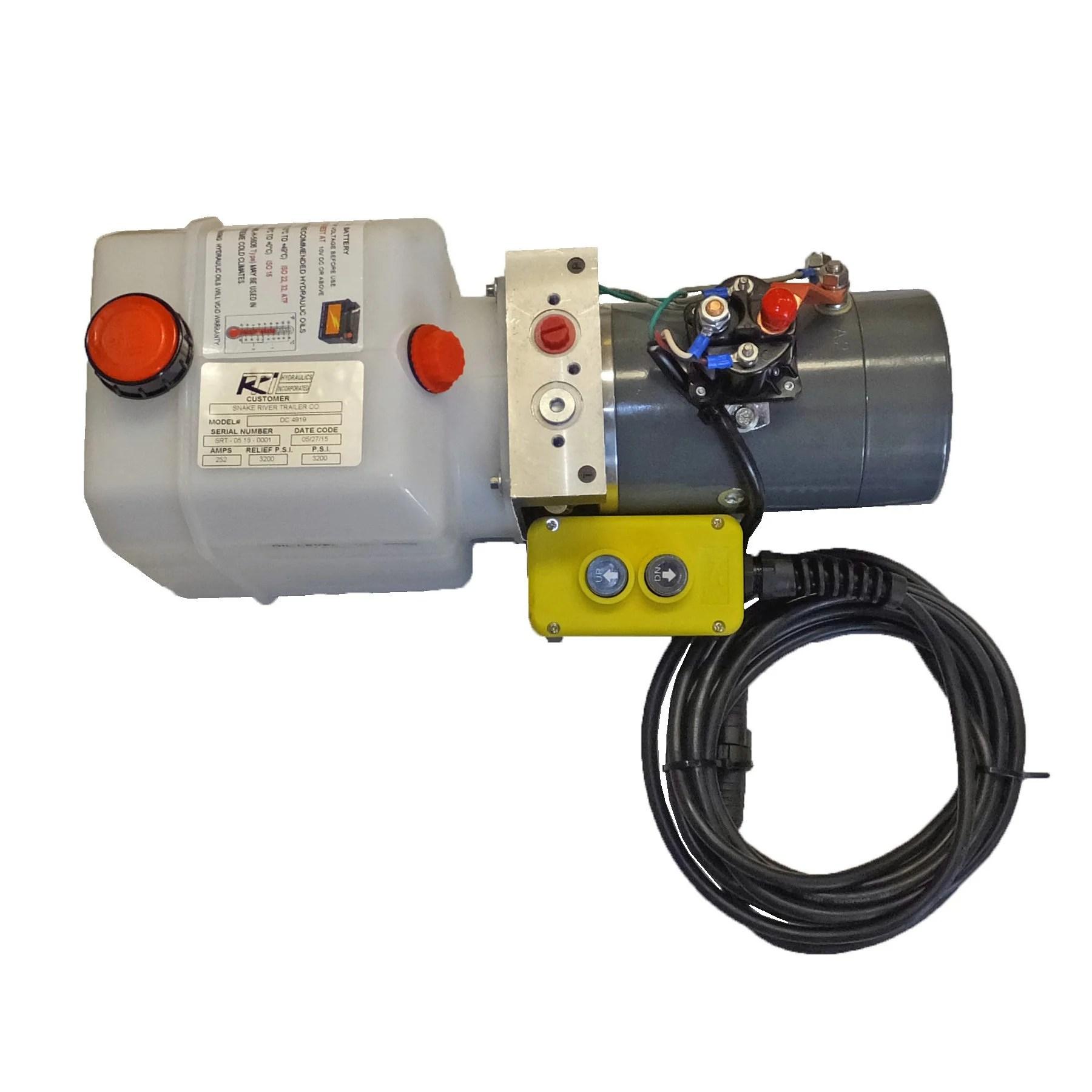 medium resolution of kti dc 4919 hydraulic hoist pump single acting power up gravity down