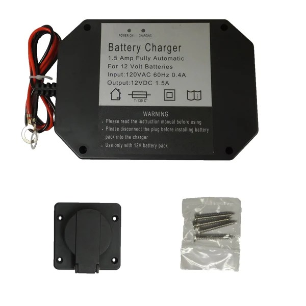 utility trailer wiring diagram two doorbell panel mount battery charger - 1.5 amps – www.ordertrailerparts.com
