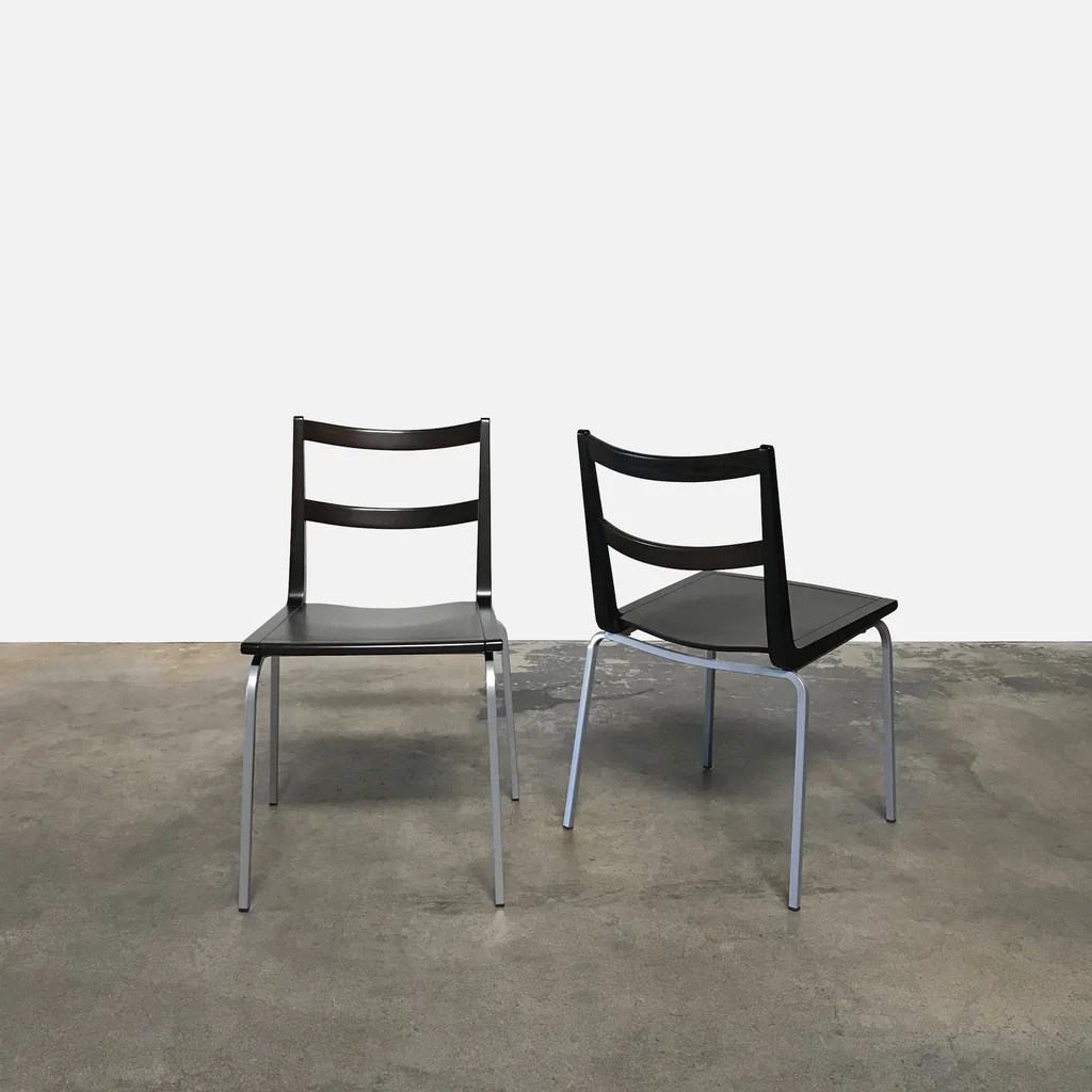 Wenge Stackable Dining Chairs 5 In Stock