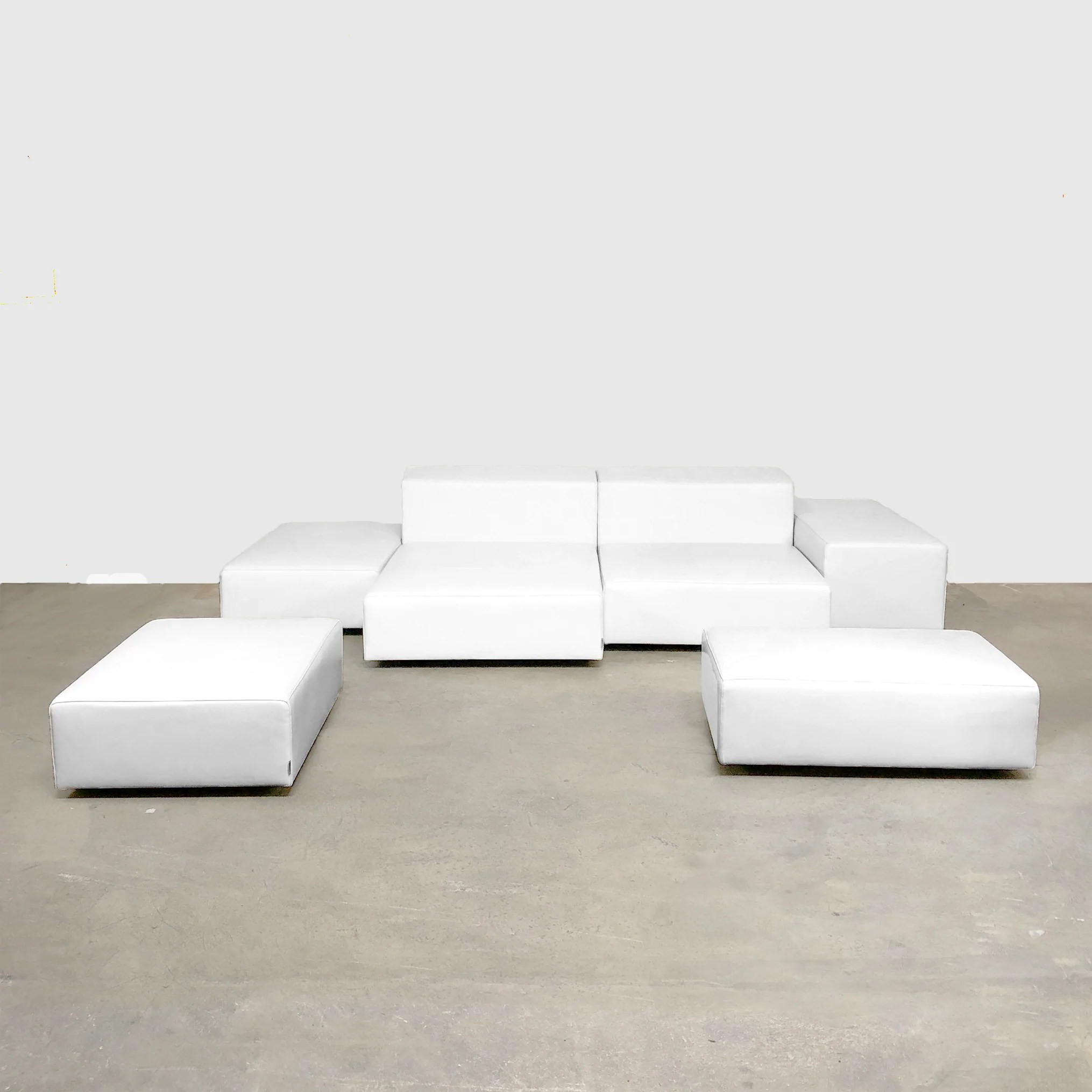 wall sofa reupholstering a sectional living divani extra 8 white leather modern resale by piero lissoni