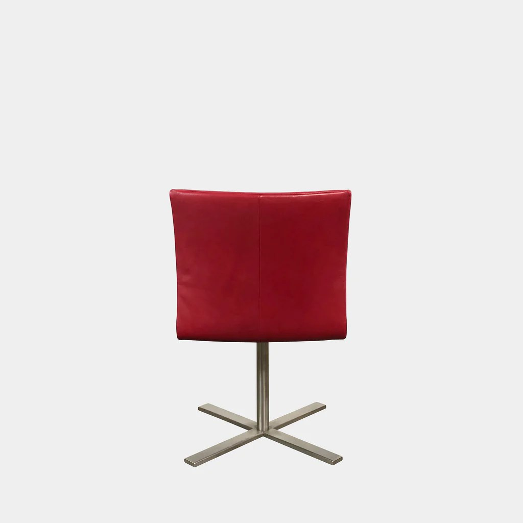 Red Leather Swivel Chair Red Leather Swivel Chair