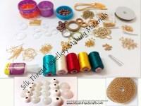 Buy Silk Thread Jewellery Making Materials/ Kits / Jewelry ...