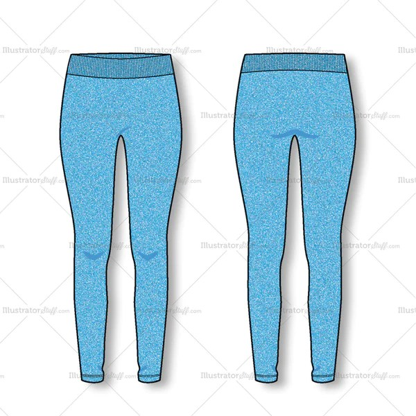 Womens Fashion Seamless Legging Flat Template Templates For Fashion