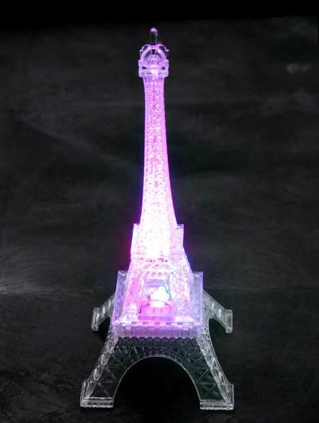 Acrylic Eiffel Tower LED Light MultiColor 10Inch  www