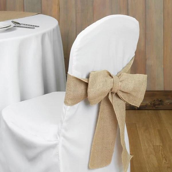 Wedding Burlap Bow Chair Sash  wwwPartyMillcom