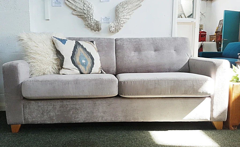 large sofa couch mission style and loveseat 40 off a superb zack silver grey bed settees the chenille fabric