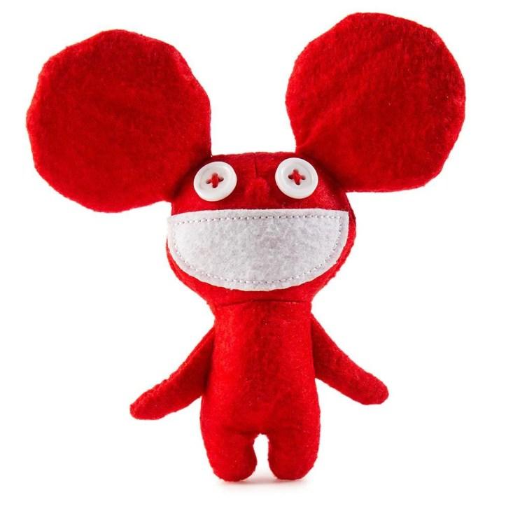 100% Polyester - Kidrobot X Deadmau5 Red Mau5 Plush
