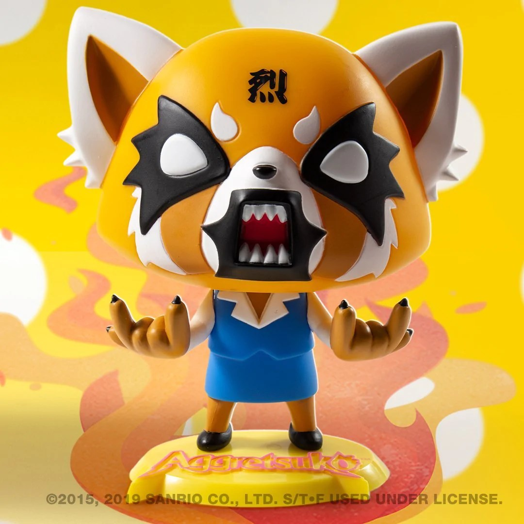 aggretsuko rage art figure