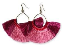 Millie Tassel Earring - Fuchsia