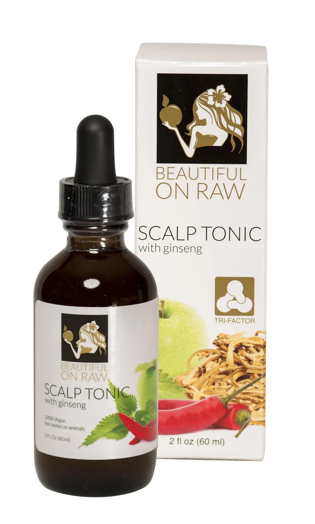 beautiful raw scalp tonic