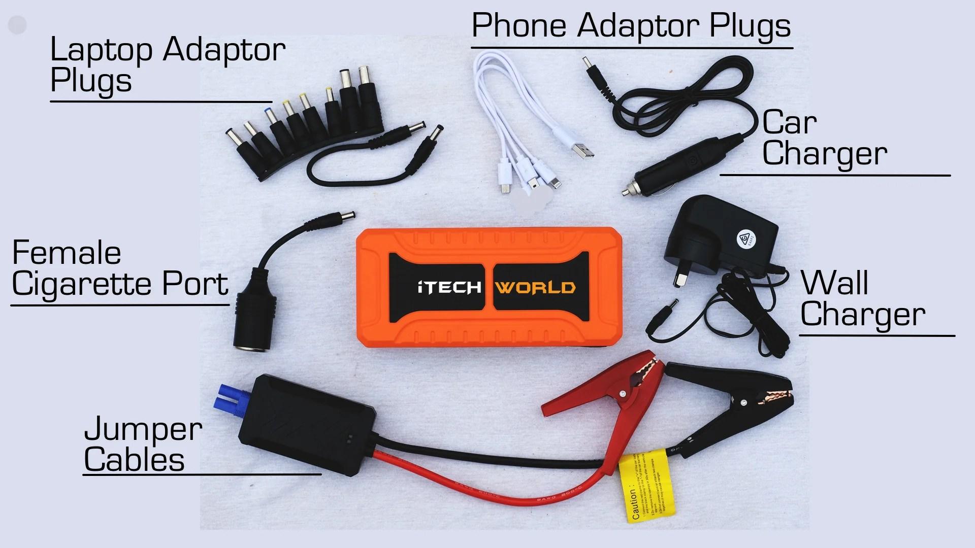 itech900a portable jump starter backup power bank [ 1920 x 1080 Pixel ]