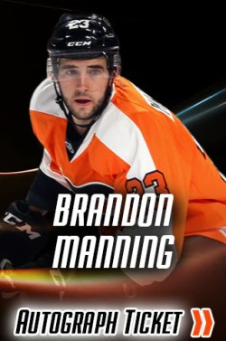 Brandon Manning Night of Giving Experience Ticket
