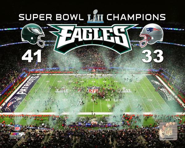 Eagles Super Bowl Lii Champions Stadium Score Nfl Football