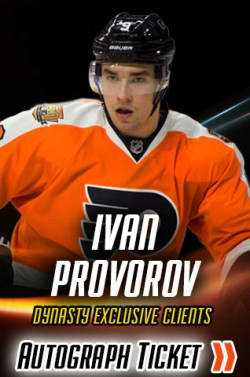Ivan Provorov Night of Giving Experience Ticket