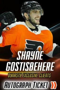 Shayne Gostisbehere Night of Giving Experience Ticket