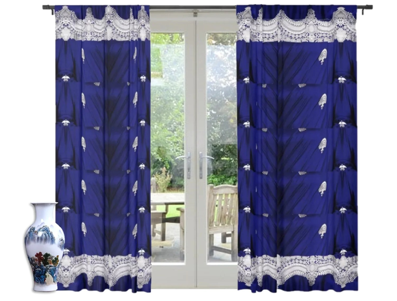 drapery living room curtains blue decorative curtains indian style design