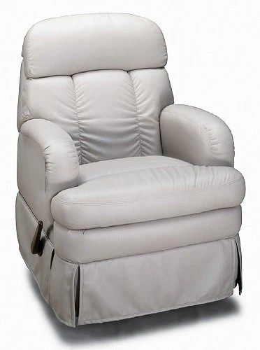 theater seating sofa sleeper cream colored leather flexsteel 283 swivel rocker recliner - master tech rv