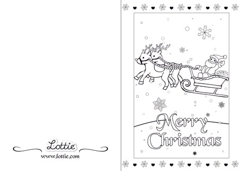 Christmas Colouring Card 3 Lottie Dolls