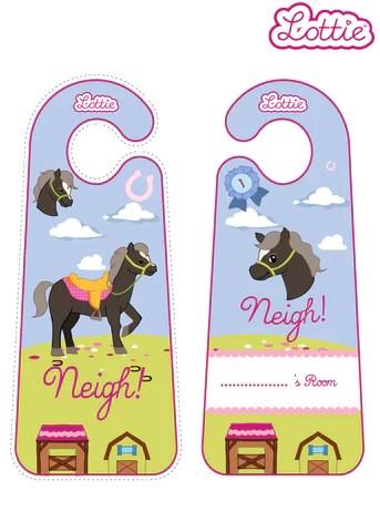 Seren The Welsh Mountain Pony Lottie Printable Door