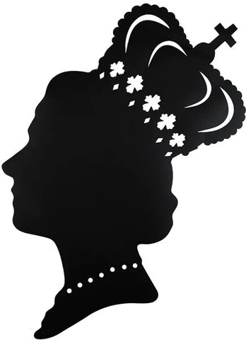 The Queen Blackboard Silhouette Wall Art Sticker Statement Piece Home Of Temptations