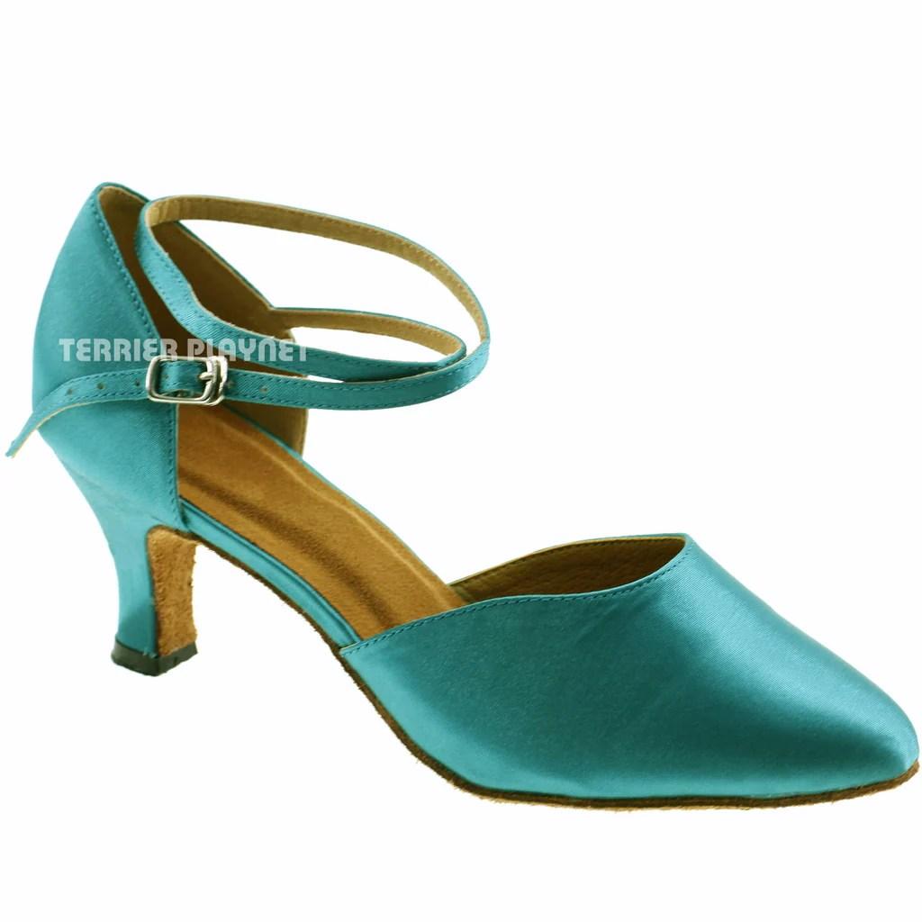 Turquoise Women Dance Shoes D239  Terrier Playnet Shop
