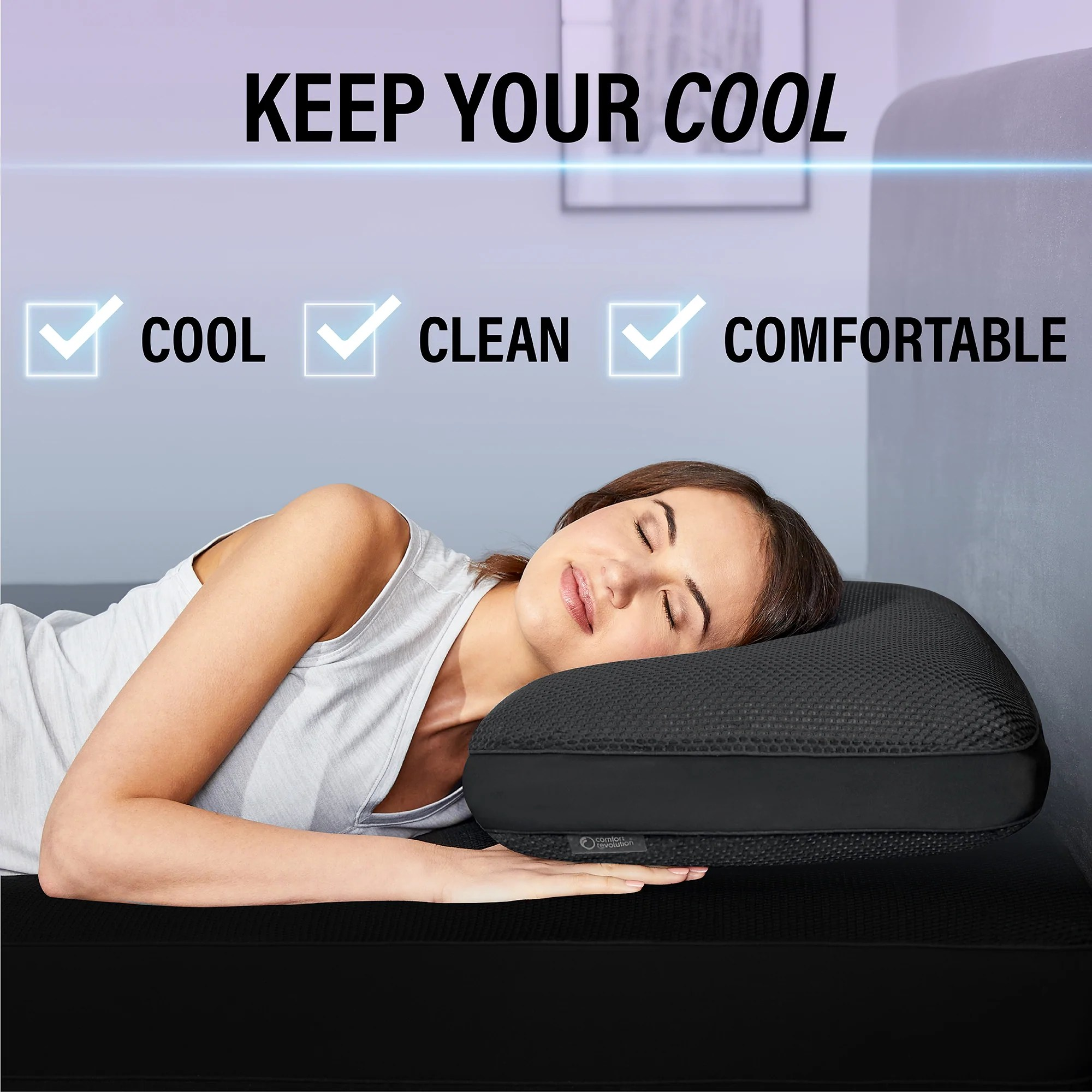 hydraluxe react cooling memory foam pillow