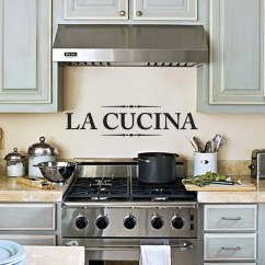 Kitchen Art Decor Industrial Chairs La Cucina Wall Decal Sticker For The 24x7